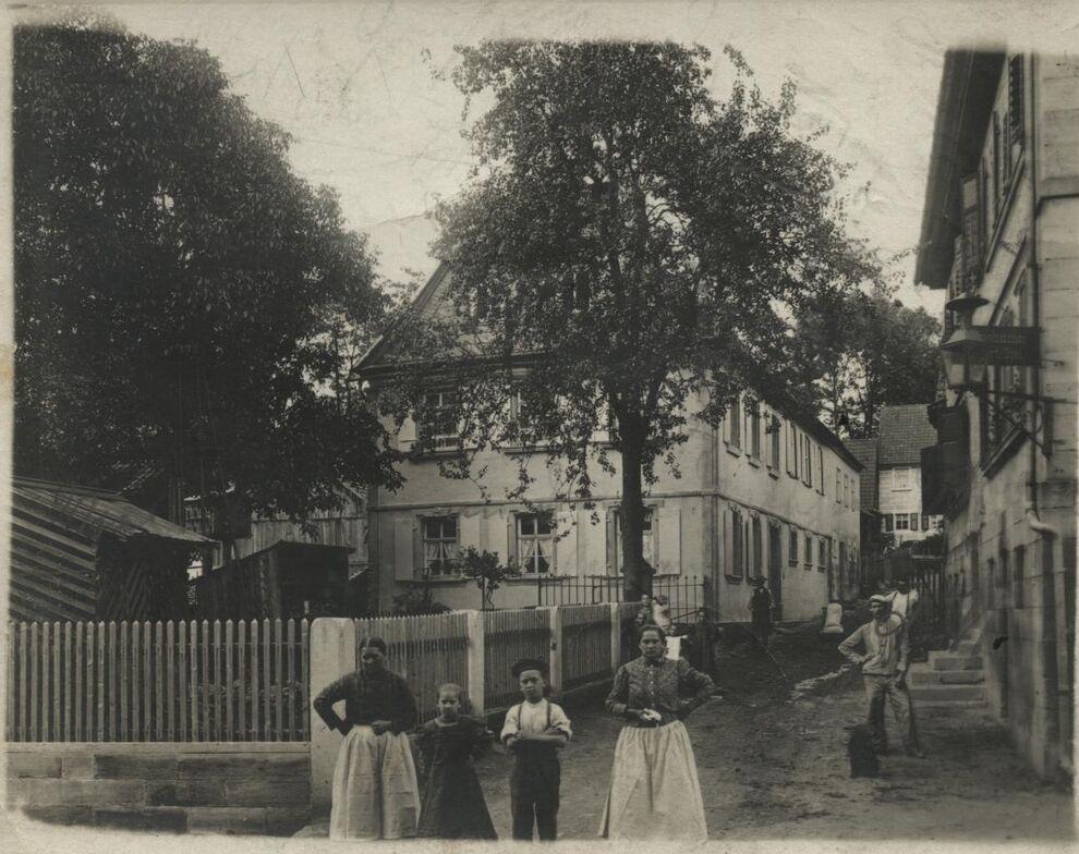 Ausgrabung Friesen_Mühlanwesen 1910,