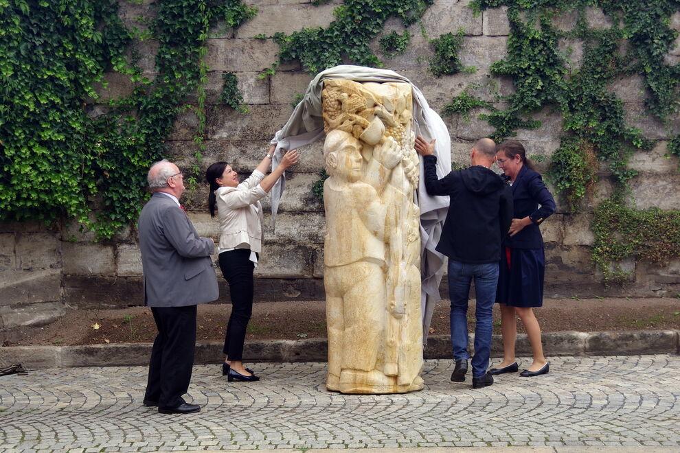 Heinrich-Schreiber-Denkmal_Enthüllung, Foto: Heike Schülein